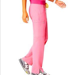 Figs S/T neon pink Kade pants